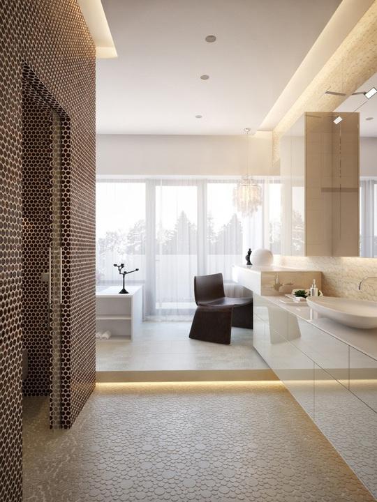 Ngôi nhà hiện đại sử dụng nội thất dạng hình học độc đáo - Ảnh 7.