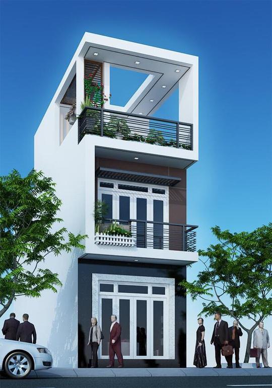 10 mẫu nhà 3 tầng kiến trúc hút mắt nhìn là muốn xây năm 2020 - Ảnh 4.