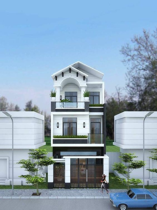 10 mẫu nhà 3 tầng kiến trúc hút mắt nhìn là muốn xây năm 2020 - Ảnh 9.