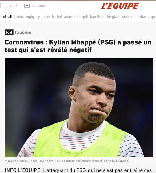 Mbappe nghi nhiễm SARS-Cov-2, PSG lo mất quân dự Champions League - Ảnh 4.