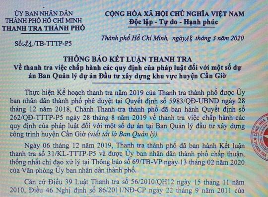 TP HCM: Hàng loạt dự án ở huyện Cần Giờ bị... tuýt còi! - Ảnh 1.