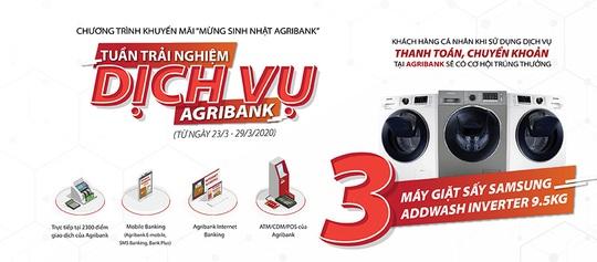 Trải nghiệm dịch vụ, nhận đủ vận may nhân sinh nhật Agribank - Ảnh 2.