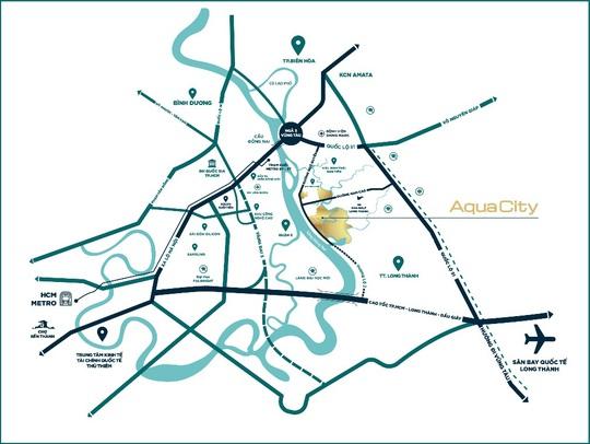 Sắc màu Địa Trung Hải trong lòng đô thị sinh thái thông minh Aqua City - Ảnh 2.