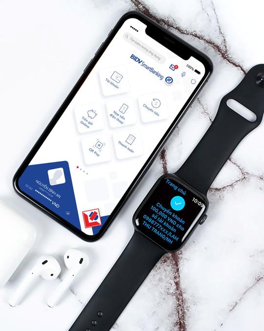 Trải nghiệm ngân hàng của tương lai, ứng dụng BIDV trên Apple Watch - Ảnh 1.