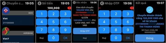 Trải nghiệm ngân hàng của tương lai, ứng dụng BIDV trên Apple Watch - Ảnh 2.