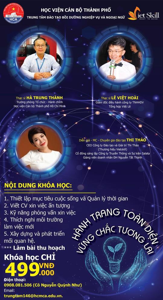 Diễn giả, MC Thi Thảo tham gia khóa đào tạo online của Học viện Cán bộ TP HCM - Ảnh 1.