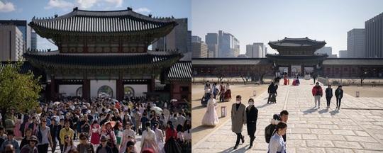 Những điểm du lịch nổi tiếng châu Á trước và sau khi Covid-19 bùng phát - Ảnh 13.