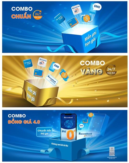 Nhiều tiện ích với 3 combo tài khoản của Sacombank - Ảnh 1.