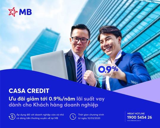 MB tung chương trình ưu đãi lãi vay CASA CREDIT cho khách hàng doanh nghiệp - Ảnh 1.
