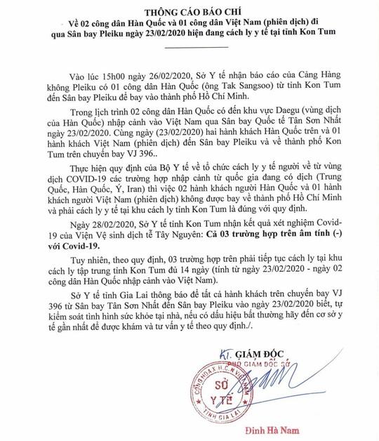Đi cùng 2 người Hàn Quốc, hành khách cả chuyến bay được khuyến cáo tự kiểm soát - Ảnh 2.