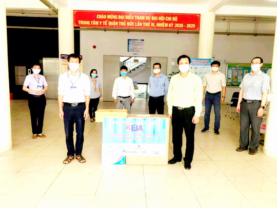 Hội Chuyên gia trí thức Việt Nam-Hàn Quốc hỗ trợ y bác sĩ tại Trung tâm Y tế quận Thủ Đức - Ảnh 2.