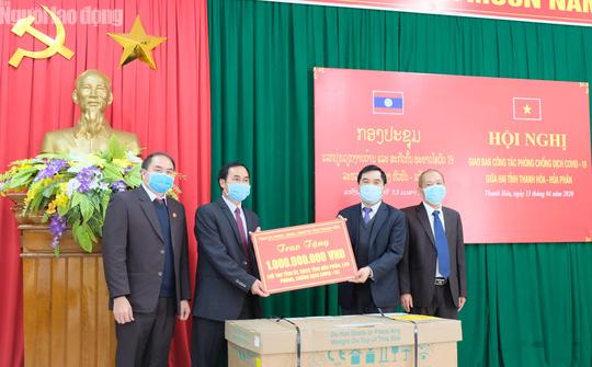 Thanh Hóa hỗ trợ tỉnh Houaphanh - Lào 1 tỉ đồng phòng chống dịch Covid-19 - Ảnh 4.