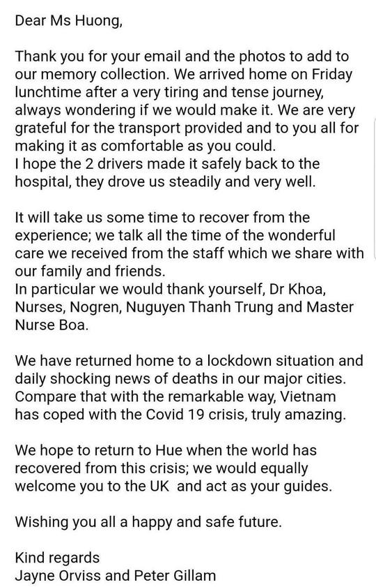 Được chữa khỏi Covid-19, vợ chồng du khách Anh bày tỏ kinh ngạc về thành công của Việt Nam - Ảnh 2.