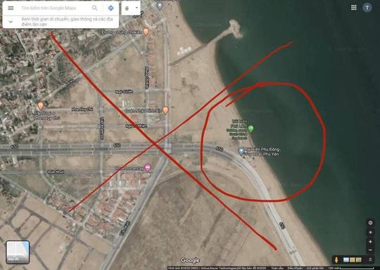 Google Maps chú thích sai nghiêm trọng bãi biển ở Phú Yên - Ảnh 1.