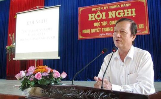 Quảng Ngãi: Nguyên Bí thư, Chủ tịch huyện Nghĩa Hành nhiều sai phạm - Ảnh 1.