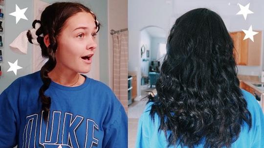 Hàng chục nghìn chị em làm tóc xoăn bằng tất trong mùa dịch - Ảnh 3.