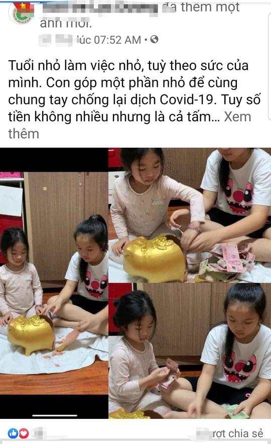 Xúc động hai cháu nhỏ đập heo đất ủng hộ phòng chống dịch Covid-2019 - Ảnh 2.
