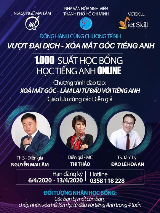 Diễn giả MC Thi Thảo trao 1000 học bổng tiếng Anh trong dịp Covid-19 - Ảnh 1.