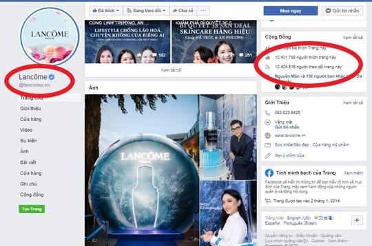 Lancôme Việt Nam cảnh báo hàng loạt fanpage, website lừa đảo - Ảnh 3.