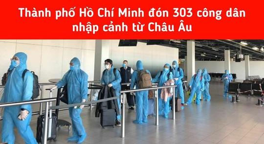 Cách ly tập trung 303 hành khách từ châu Âu nhập cảnh TP HCM - Ảnh 1.
