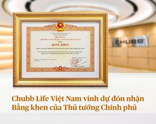 Chubb Life Việt Nam vinh dự đón nhận bằng khen của Thủ tướng Chính phủ - Ảnh 1.