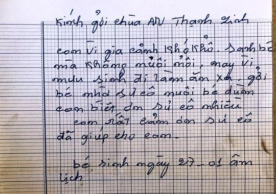 CLIP: Bé gái bị bỏ trước chùa kèm lá thư với nét chữ tiểu học - Ảnh 5.