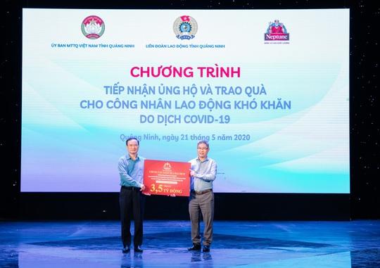 Nhãn hàng Neptune hỗ trợ hơn 3,5 tỉ đồng cho người lao động tại Quảng Ninh - Ảnh 1.