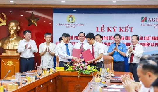 Agribank và Tổng Liên đoàn Lao động Việt Nam ký kết Quy chế hợp tác toàn diện - Ảnh 1.