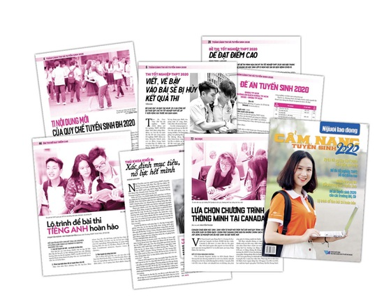 Ngày 1-6, Báo Người Lao Động phát hành Cẩm nang tuyển sinh 2020 - Ảnh 2.