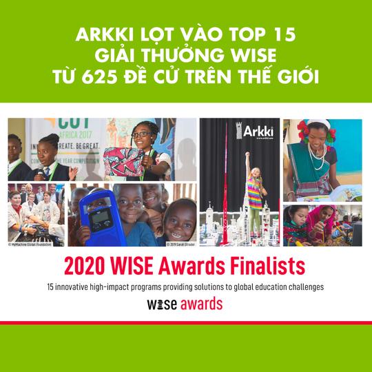 Học viện sáng tạo Arkki lọt vào top 15 Giải thưởng Giáo dục toàn cầu WISE 2020 - Ảnh 1.