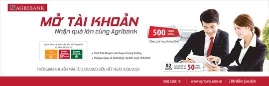 Mở tài khoản - nhận quà lớn cùng Agribank - Ảnh 1.