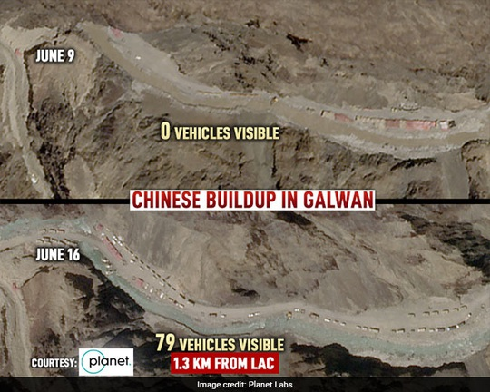 Đụng độ biên giới: Hình ảnh vệ tinh phơi bày động thái của Trung Quốc - Ảnh 1.