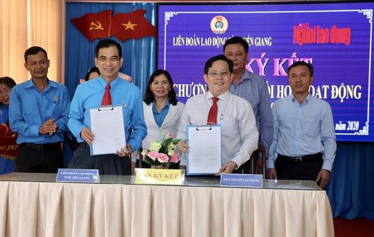 Báo Người Lao Động ký kết hợp tác với LĐLĐ tỉnh Tiền Giang - Ảnh 8.