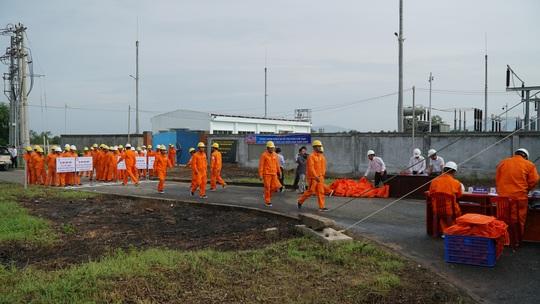 EVNSPC diễn tập phòng chống thiên tai và tìm kiếm cứu nạn - Ảnh 3.