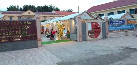Chủ tịch UBND xã lên tiếng việc cho cán bộ mượn chỗ tổ chức đám cưới linh đình - Ảnh 1.