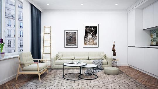 Căn hộ 1 phòng ngủ được trang trí đẹp như studio - Ảnh 3.