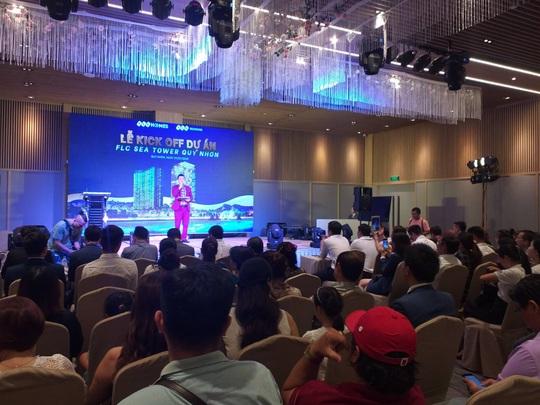 Gấp rút hoàn thiện, FLC Sea Tower Quy Nhon hút hàng trăm sale trong lễ kick off - Ảnh 1.