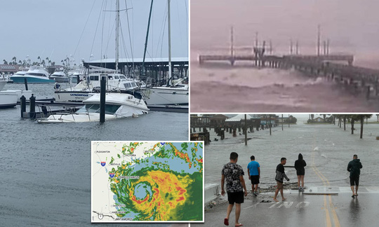 Mỹ: Bão mạnh đổ bộ vào nơi bị Covid-19 tàn phá, 2 bão khác nối đuôi - Ảnh 1.