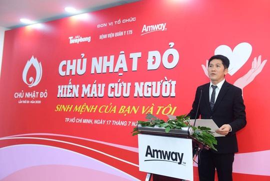 Amway Việt Nam lần đầu tham gia Ngày hội Hiến máu Chủ nhật đỏ - Ảnh 1.
