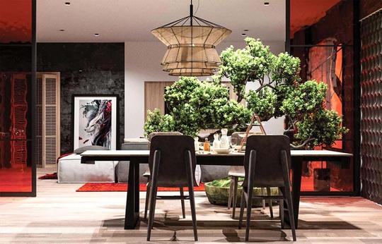 Thiết kế nội thất hiện đại với tông màu đỏ và xám theo phong cách Nhật Bản - Ảnh 20.