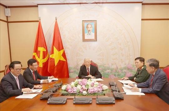 Tổng Bí thư, Chủ tịch nước điện đàm với Chủ tịch Đảng, Thủ tướng Campuchia Hun Sen - Ảnh 1.