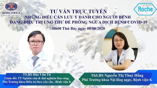 Bệnh viện K tư vấn trực tuyến điều trị ung thư với sự đồng hành của Roche Việt Nam - Ảnh 1.