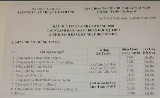 30 điểm mới trúng tuyển ngành Kỹ thuật Ô tô Trường CĐ Kỹ thuật Cao Thắng - Ảnh 1.
