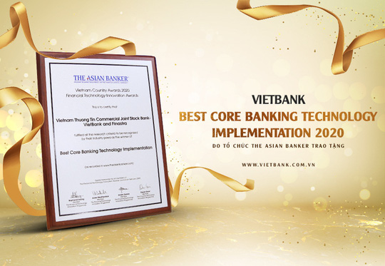 Vietbank được The Asian Banker vinh danh ngân hàng lõi tốt nhất năm 2020 - Ảnh 1.