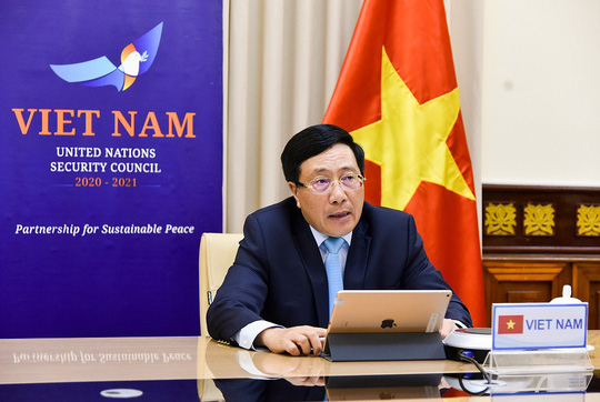 Phó Thủ tướng dự thảo luận Hội đồng Bảo an LHQ về Covid-19 và hòa bình - Ảnh 1.