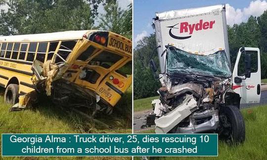 Mỹ: Tài xế xe tải tử vong sau khi lao lên xe buýt cứu người - Ảnh 2.