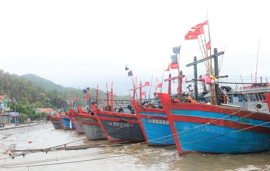 Ngư dân Thanh Hóa hối hả đưa tàu, bè vào bờ trước giờ bão số 2 đổ bộ - Ảnh 3.