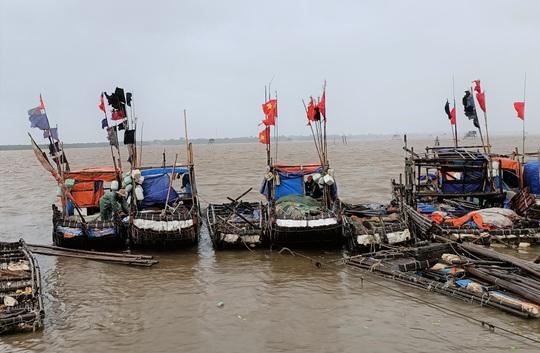 Ngư dân Thanh Hóa hối hả đưa tàu, bè vào bờ trước giờ bão số 2 đổ bộ - Ảnh 5.