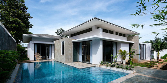 Biệt thự 1 tầng có hồ bơi xanh mát - Ảnh 7.