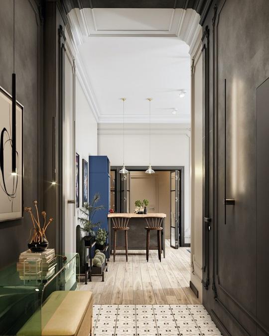 Nhờ có gác lửng, căn hộ 70m2 trở nên rộng và thoáng thấy rõ - Ảnh 7.